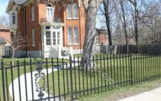 Custom made wrought fence, fencing,